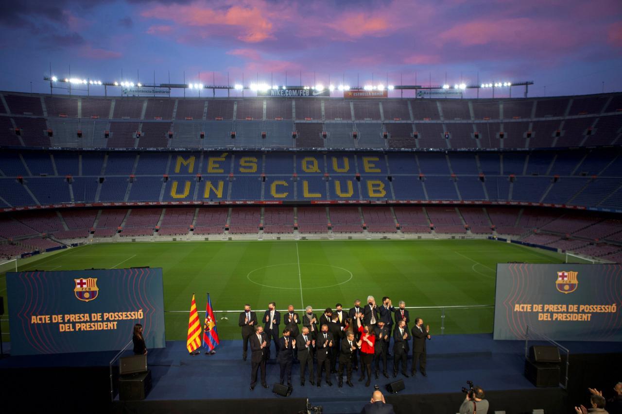 Toma de posesión de Laporta como presidente del Barcelona