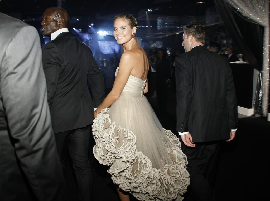 Model Heidi Klum and husband Seal attend the Governors Ball following the 63rd Primetime Emmy Awards in Los Angeles