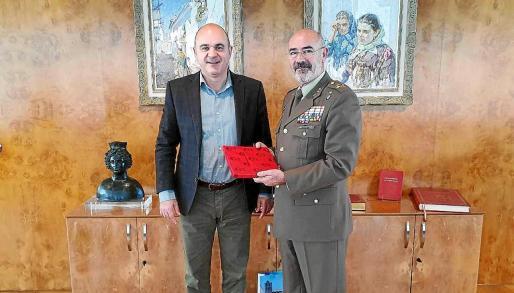 Recepción al nuevo comandante general de Baleares.