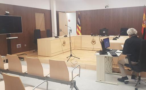 Sala de lo Penal donde víctima y acusado comparecieron por videoconferencia.