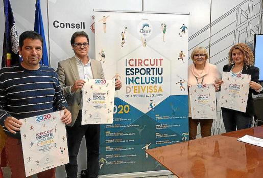 Una imagen del acto de presentación del circuito, ayer en el Consell d'Eivissa.