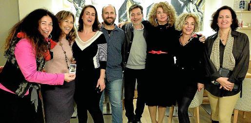 Nermin Goenenc, Pilar García, Isabel Martín, Carlos Terroba, Jorge Paredes, Pilar Correa, Raixa Quesada y Francesca Palacio de Aiamans.