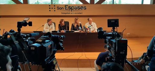 Rueda de prensa en Son Espases.