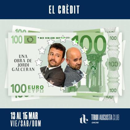 'El crèdit' se representará en la Sala 3 del cine Augusta.
