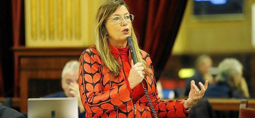 La consellera de Salud, Patricia Gómez, ayer en el Parlament.