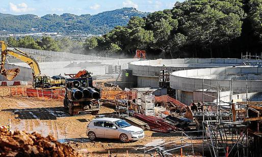 Imagen de archivo de la depuradora de Ibiza.