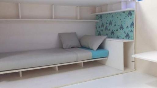 Un proyecto de 'piso colmena' con capacidad para una sola persona.