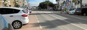 Cortes en la carretera PM-820 de Formentera con motivo del Trofeo de Ciclismo en Ruta