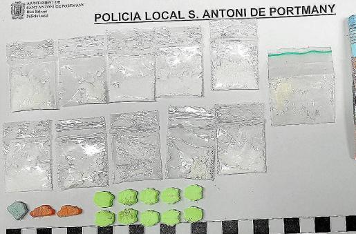 Imagen de archivo de un decomiso de sustancias realizado por la Policía Local de Sant Antoni.