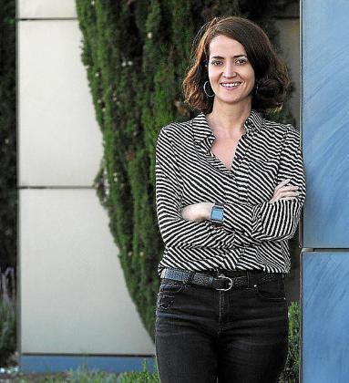 María José Real, ayer, en Periódico de Ibiza y Formentera.