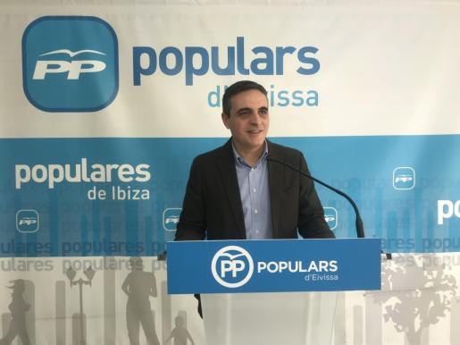 Imagen de archivo de José Vicente Marí Bosó durante una rueda de prensa.