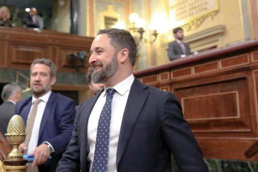 El presidente del Vox, Santiago Abscal, en el Congreso.