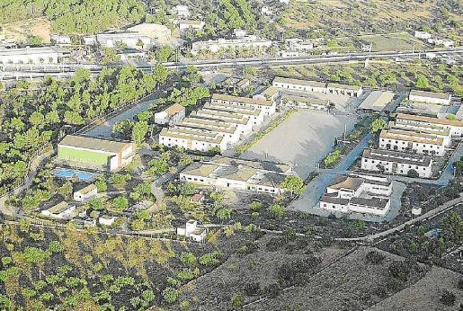 Vista aérea de sa Coma, donde el Colegio de Arquitectos ha propuesto rehabilitar edificios para alquiler social.