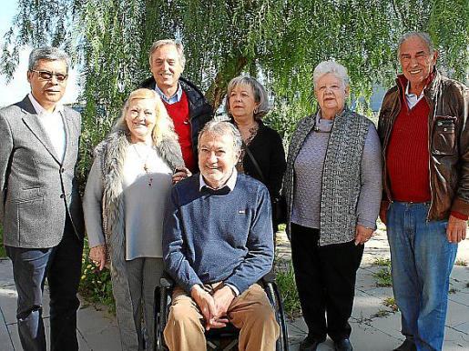 Lino Salas, Mari Carmen Serra, Emilio Martínez Almoyna, Ramón Sala, Catin Riera, Ulla Erickson y Jorge Vives.
