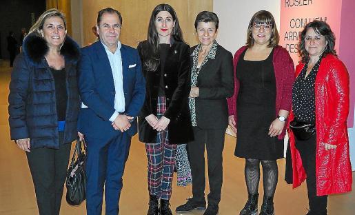 Aina Rullán, Josep Mallol, Imma Prieto, Carme Serra, Bel Busquets y Kika Coll.