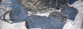 La Policía Nacional detiene a un hombre por robar 1,7 toneladas de cable de cobre en Ibiza