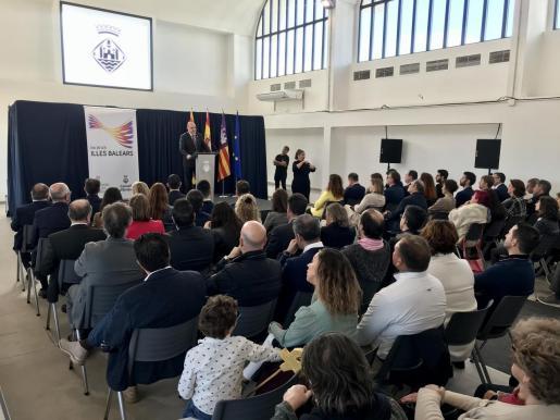 El presidente del Consell d'Eivissa, Vicent Marí, durante su discurso.