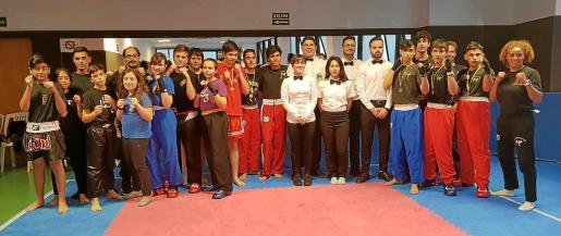 Algunos de los participantes en la diada que se celebró este fin de semana en Santa Eulària.