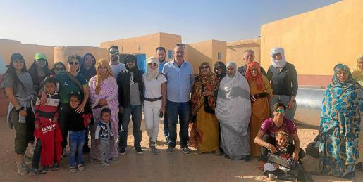 La delegación de Ibiza, en los campamentos de refugiados de Tindouf.