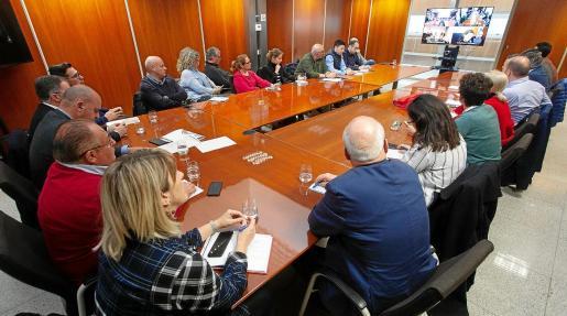 En la reunión de ayer participaron por videoconferencia representantes políticos y empresariales de las cuatro islas.