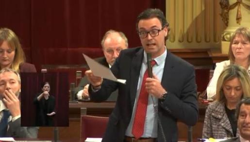 El portavoz adjunto del Grupo Parlamentario Popular, Toni Costa.