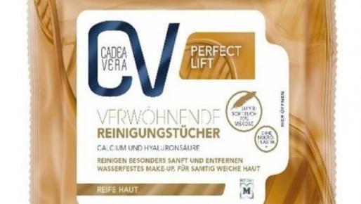 Lote 214915 de las toallitas limpiadoras CV Cadea Vera Verwöhnende Reinigungstücher de la empresa Dr Schumacher GmbH.