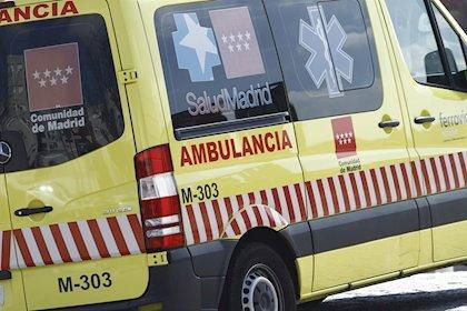 Una ambulancia en Madrid.
