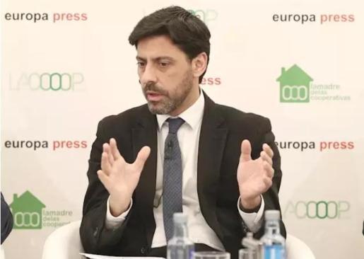 El director general de Vivienda y Suelo del Ministerio, Francisco Javier Martín Ramiro, interviene en el desayuno informativo organizado por Europa Press y Lamadredelascooperativas.