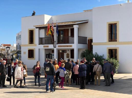 Turistas del Imserso en Formentera.