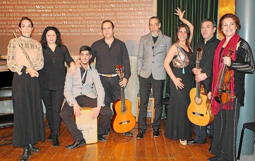 Laurianae Orsini, Sandra Aneas, Sergio Perdiguero, José Montoya, Ricardo Manzano, Patricia Moro, Tolo Jaume y Soriana Ivaniv.