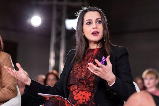 Inés Arrimadas durante un discurso.