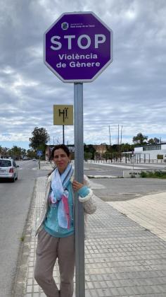 Imagen de las señales que se han instalado en el municipio de Sant Josep.
