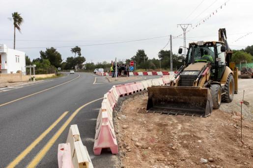 Las obras se iniciaron hace pocos días en el cruce entre la EI-30 y la calle Picasso.