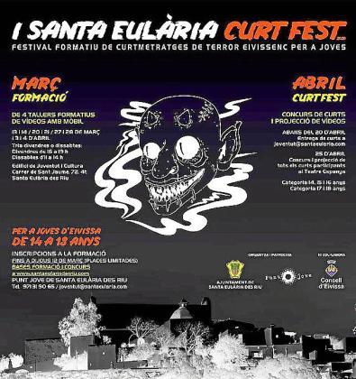 Cartel informativo del Santa Eulària Curt Fest.