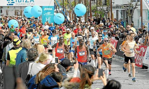 Imagen de archivo de la Ibiza Marathon, que este año se celebrará el 4 de abril.