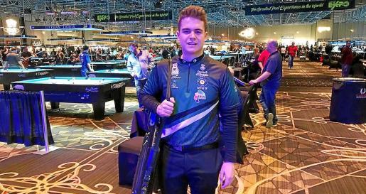 Jonás Souto, ayer en la sala de juego del Hotel Rio poco antes de su debut en el Open Diamond Las Vegas.