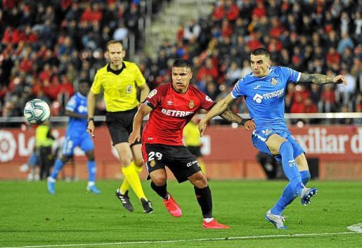 Una imagen del partido entre el Mallorca y el Getafe.