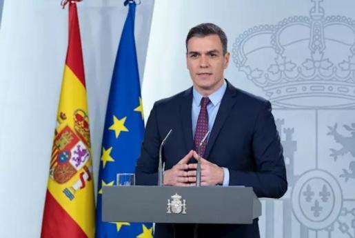 Pedro Sánchez, en la rueda de prensa tras el Consejo de Ministros extraordinario.