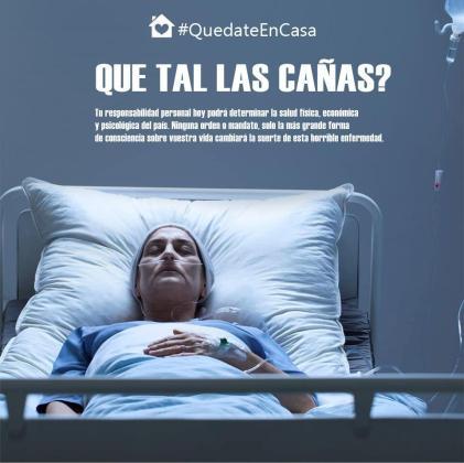 Traducción al español de un cartel difundido en Italia para concienciar a la población de la necesidad de permanecer en casa.