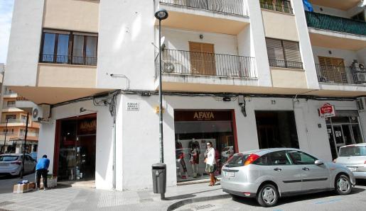 Imagen del centro de Ibiza, sin mucha gente por las calles.