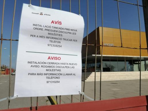 Cerrado el Complejo Deportivo de Es Raspallar.