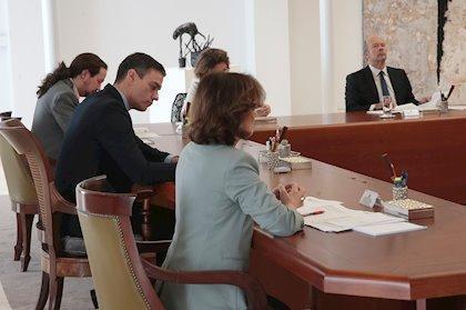 Imagen del Consejo Extraordinario de Ministros.