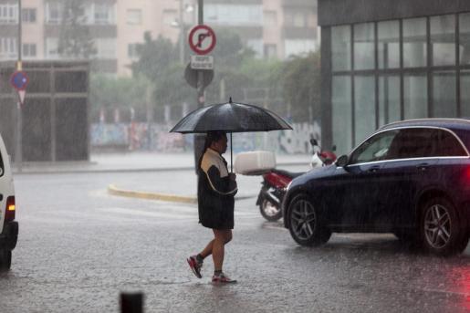 Imagen de un día de lluvia en Ibiza.