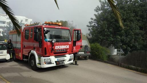 Imagen de archivo de un camión de bomberos en Ibiza.