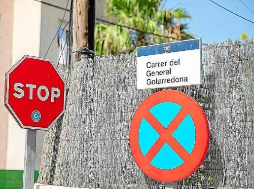 Cartel identificativo de la calle general Gotarredona, en Sant Antoni.