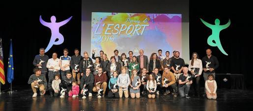 Una imagen de los premiados en la edición del año pasado.