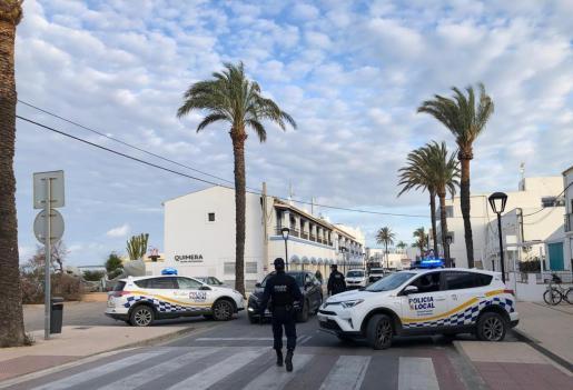 Control policial en Formentera.