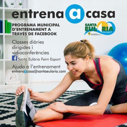 Santa Eulària impulsa la iniciativa 'Entrena en casa' para hacer ejercicio 'online'.