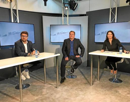 De izquierda a derecha, Agustí Sintes, Toni Ruiz y Sonia Escribano, ayer en el plató de TEF.