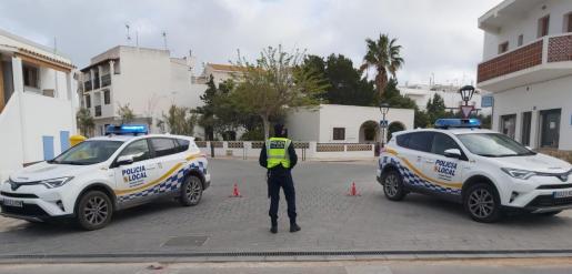Control de la Policía Local de Formentera.